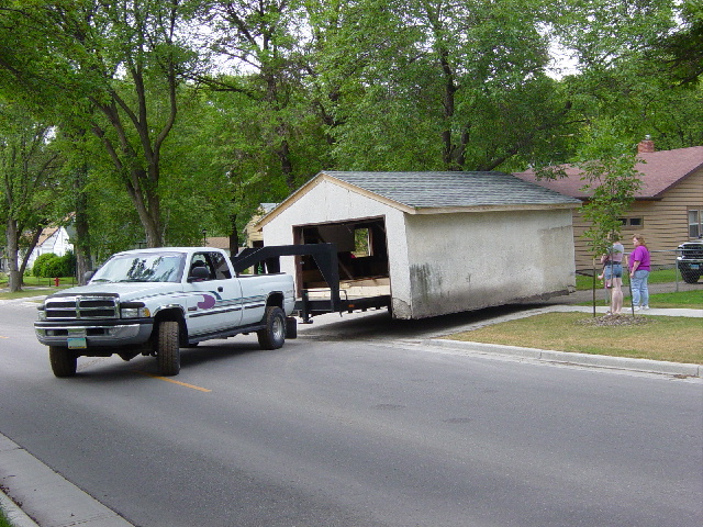 Moving a shed the friendliest for How to move a building